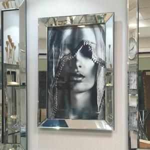 قاب آینه ای مدل شال دار
